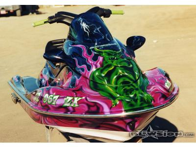 Blowsion Custom Painted Kawasaki Sitdown - 2002