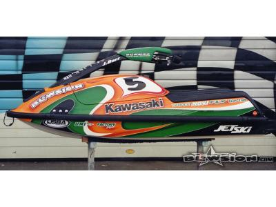Blowsion Pro Womens Ski Racer Janelle Barr - Team Kawasaki 750 - 2002