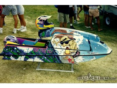 Blowsion Custom Painted Surfer Theme 550 - Richard Clam Edition - 1992