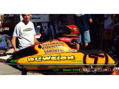 Blowsion Custom Painted Super Jet - Pro Freestyler Jeff Dawson 2002 - Tillamook Smoker Jerky
