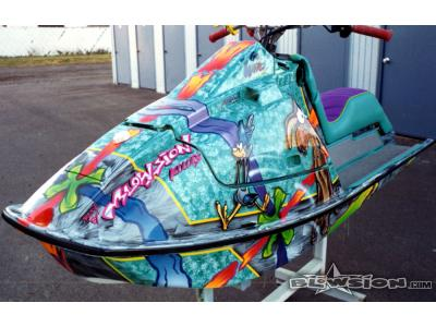 Blowsion Custom Painted Wiley Coyote Theme Kawi X2- 1991