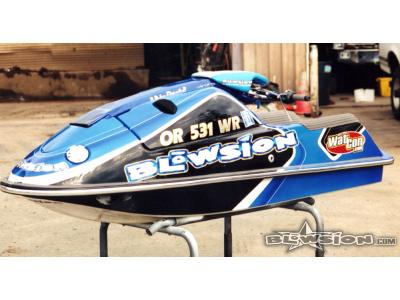 Blowsion Custom Painted Yamaha SJ - Air Darin Anderson - 2000