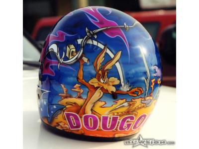 Blowsion Custom Painted Wiley Coyote Theme SHOEI VfX - 2003