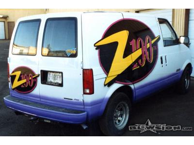 Blowsion Custom Painted Z100 Radio Station Vans - 1997