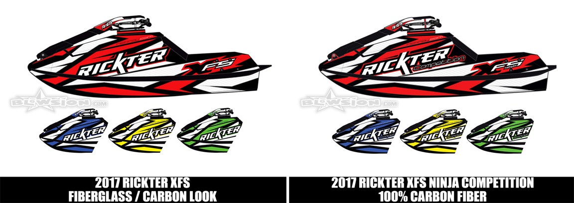 2017 Rickter XFS Hull Models and Color Options