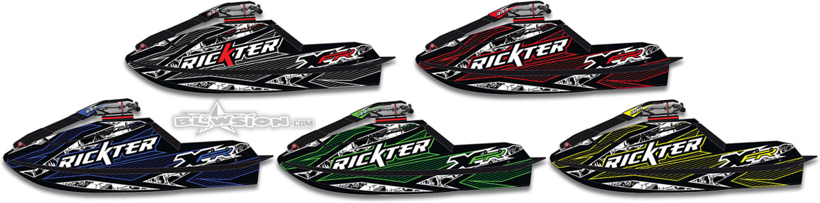 2018 Rickter XFR / XFR-LT Hull Color Options